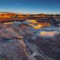 Bisti Badlands, Sunset-Moonrise -45