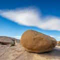 Joshua Tree National Park, Boulder and Cloud -205